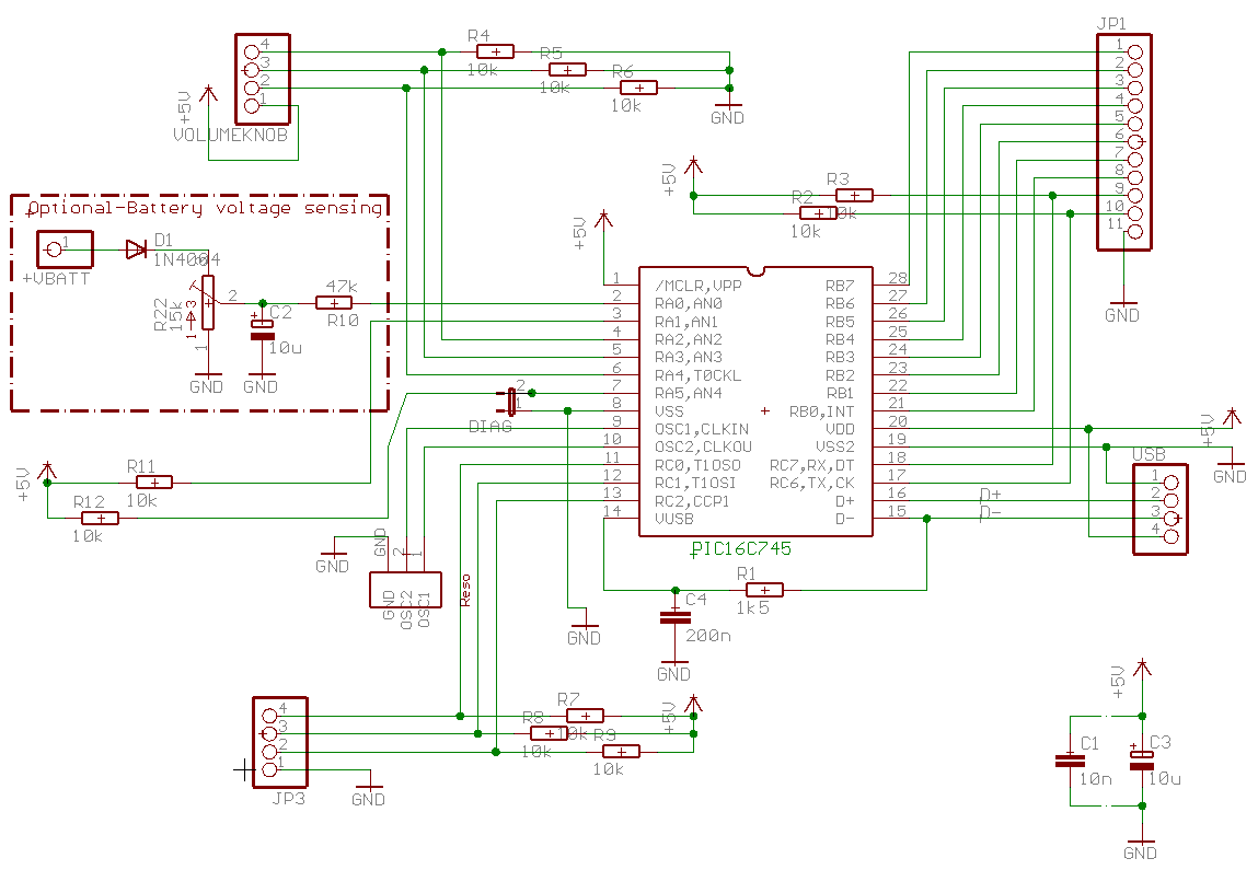 Homemade Usb Hid Compatible Input Device Schematic Downloads